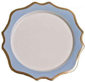 Anna Weatherley Anna's Palette Sky Blue Charger Plate