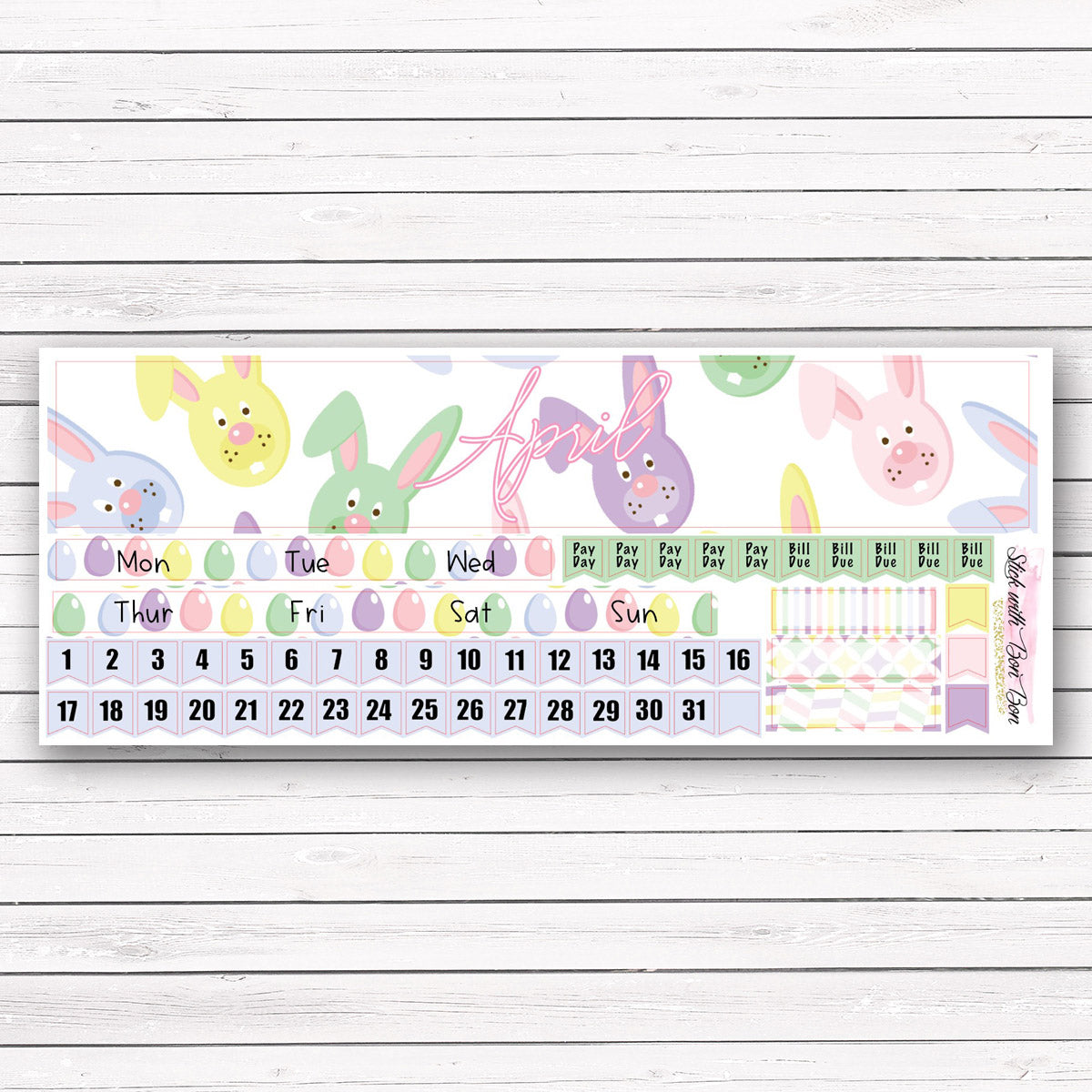 Hobonichi Cousin APRIL MONTHLY Kit
