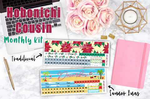 Hobonichi Cousin DECEMBER MONTHLY Kit