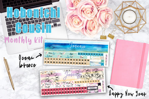 Hobonichi Cousin JANUARY MONTHLY Kit