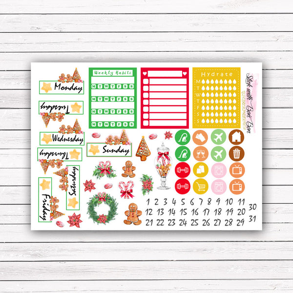 Gingerbread Man - Vertical Weekly Kit