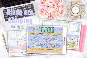 Birds are Chirping - Monthly View Stickers