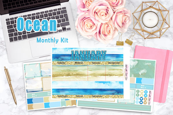 Ocean - Monthly View Stickers