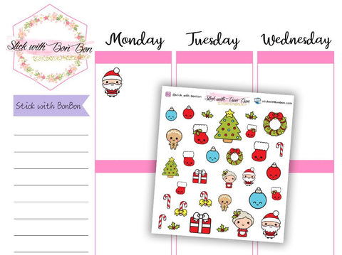 Kawaii Christmas Deco stickers