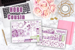 Purple Spring - Hobonichi A5 Cousin Kit