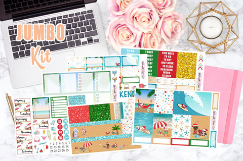 Summer Christmas - Vertical Weekly Kit