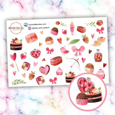 Valentine's Day Deco Stickers