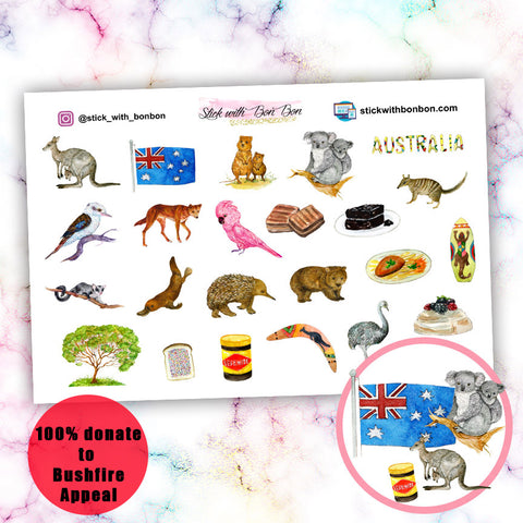 Australia Day Deco Stickers - V2