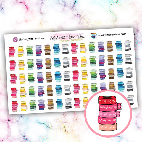 Bow Washi Stickers