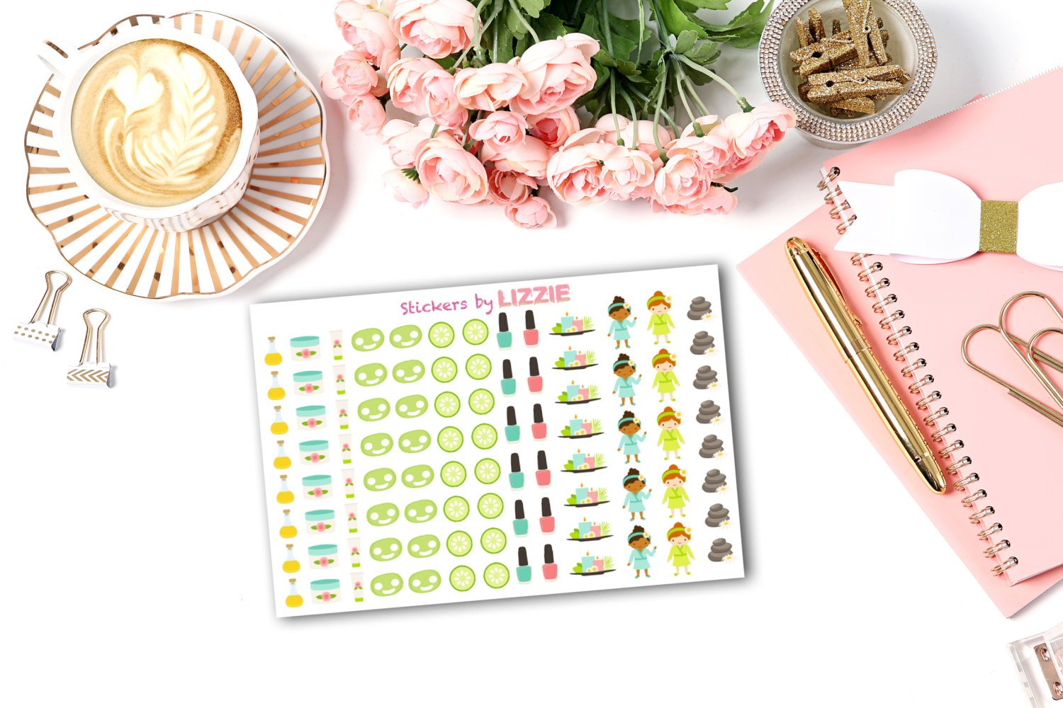 Spa/Pamper Day Stickers