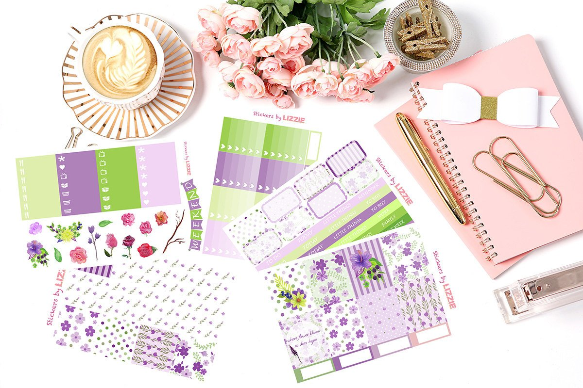 Purple Dreamy Garden - Vertical Weekly Kit