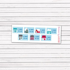 Ski Holiday Countdown Stickers
