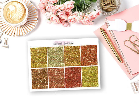 Glitter Header Stickers - YELLOW