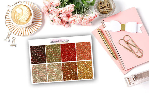 Glitter Header Stickers - WARM SPICE