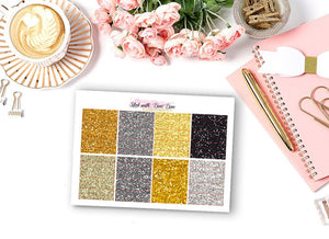 Glitter Header Stickers - NEW YEAR EVE