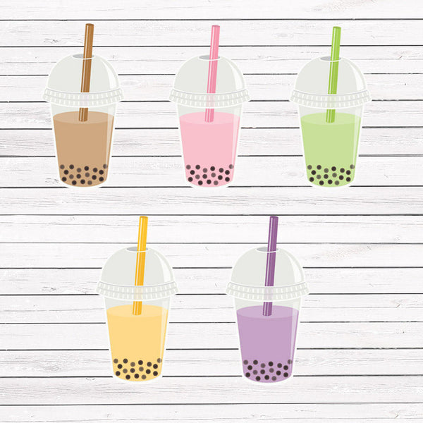 BOBA/Pearl Milk Tea Stickers