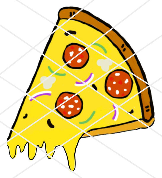 Hand drawn Pizza Stickers