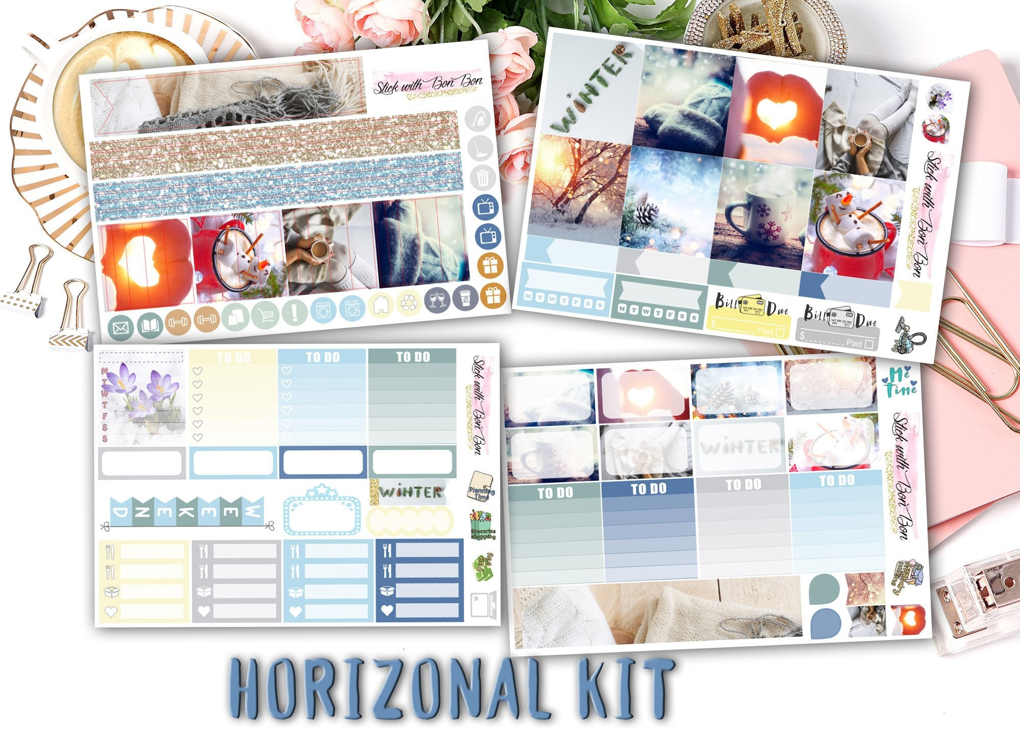 Winter Love - Horizontal Weekly Kit