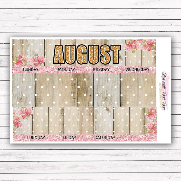 Wooden Flower - Monthly View Kit