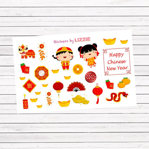 Chinese New Year deco stickers