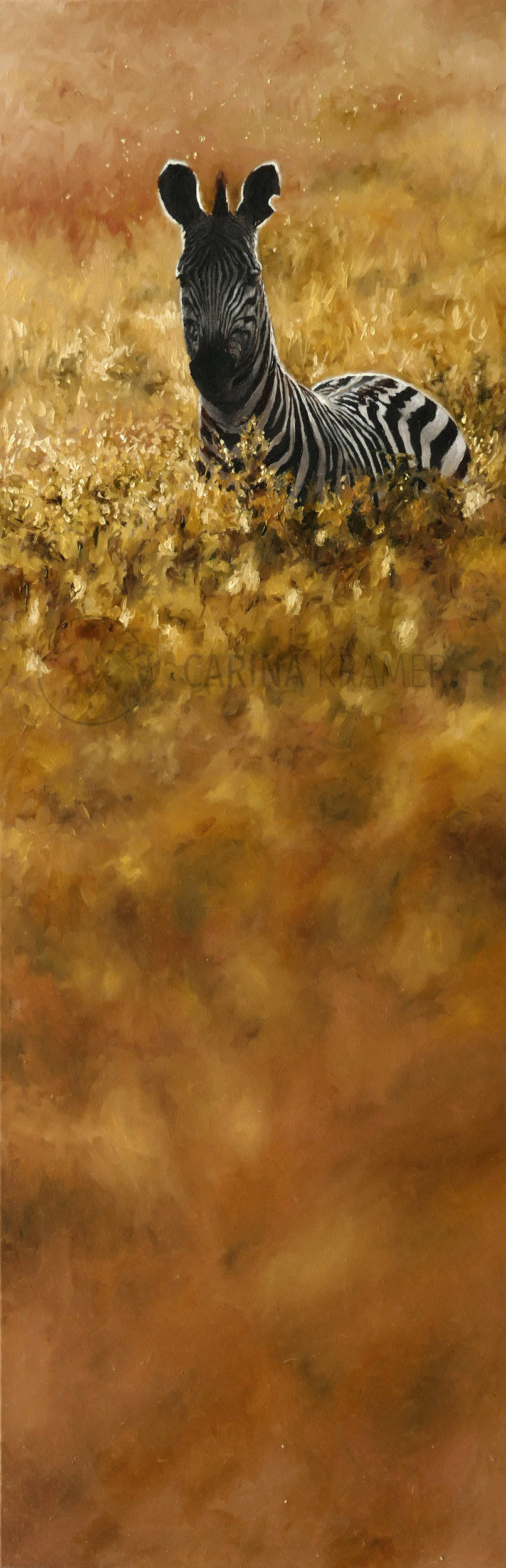 Fields of Gold - Carina Kramer - Fine Art, Original Painting, Wildlife Art/ Animal Painting