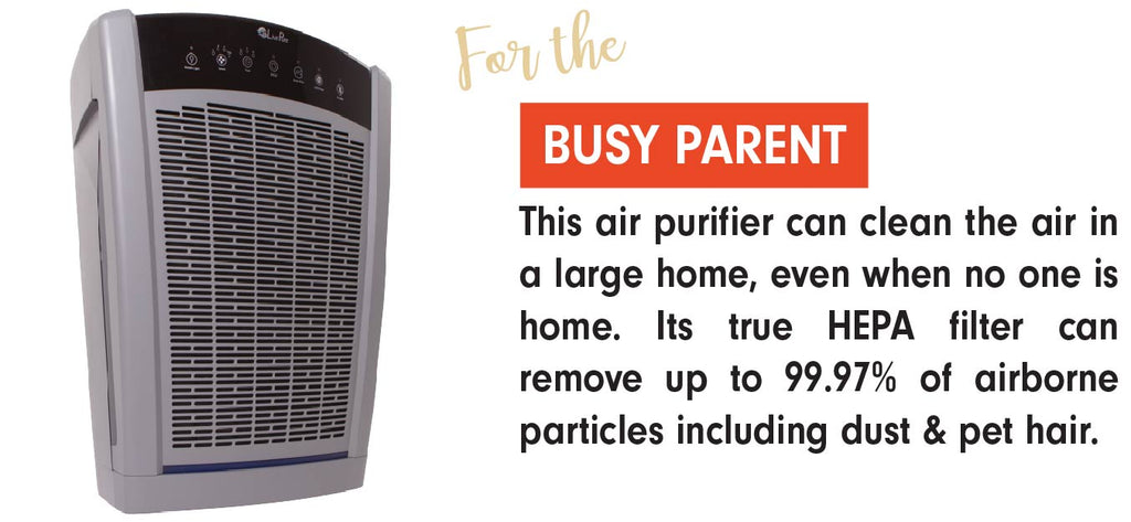 The LivePure Bali Air Purifier is the perfect gift for the Busy Parent in your life.