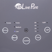 LivePure Bladeless Auto-Duster Fan