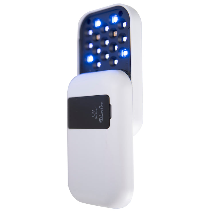 LivePure LP-UVS100 UV-Sanitizer, Open with Light, Pearl White