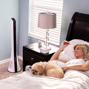 LivePure LP1900FAN Blade Tower Fan White Bedroom