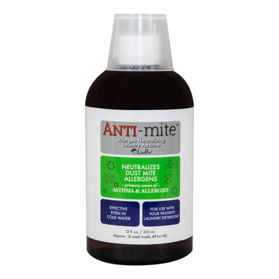 LivePure ANTI-Mite Dust Mite Eliminating Laundry Additive LP-AM-12, 12 OZ