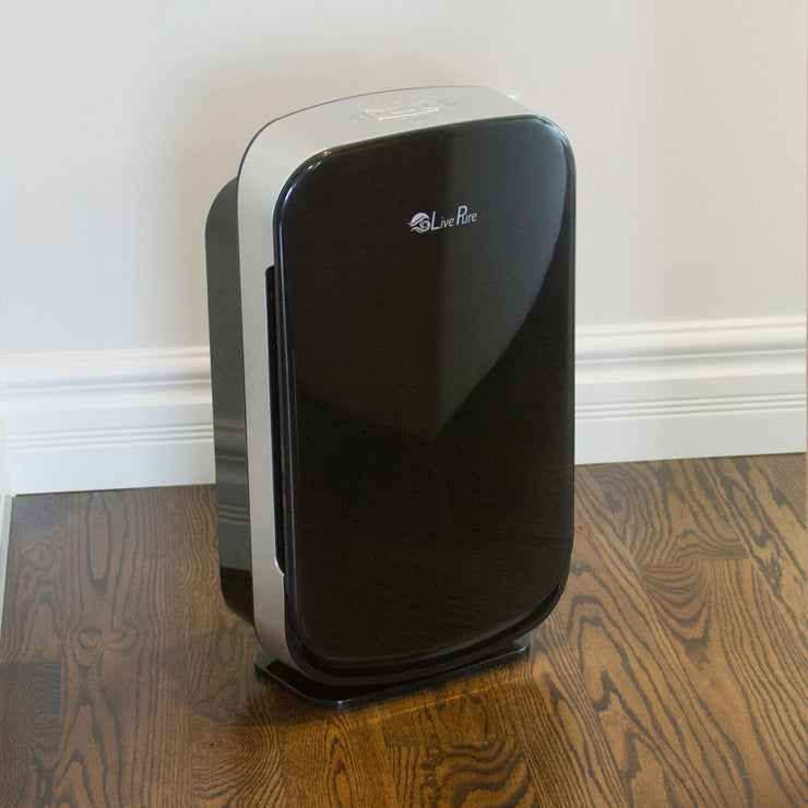 LivePure Aspen Series Air Purifier LP350TH on Hardwood Floor in Home