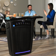 Family Eating Dinner with LivePure Bali Series Air Purifier
