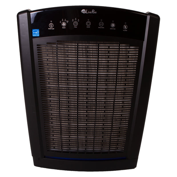 LivePure Bali Series Air Purifier LP550TH, True HEPA Filter, Multi Room Whole Home Capacity, Slate Black