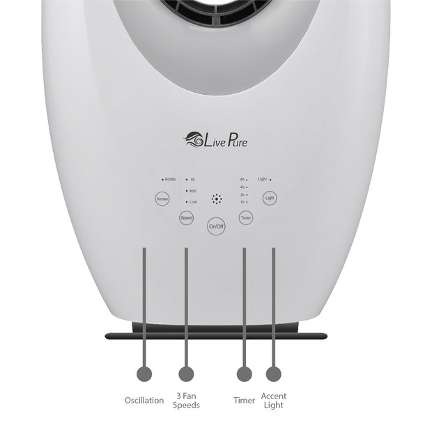 LivePure Oscillating Bladeless Vortex Fan
