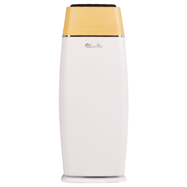 LivePure LP260TH Sierra Series Digital Tall Tower Air Purifier White Front