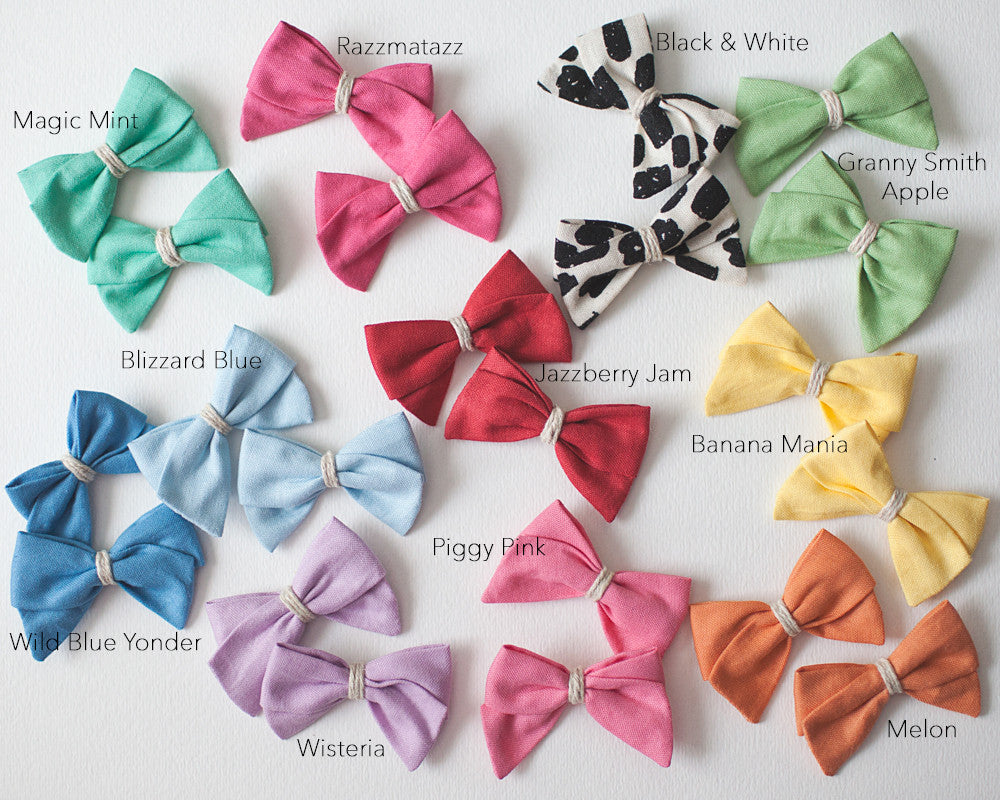 Mini Piggy Bow Set