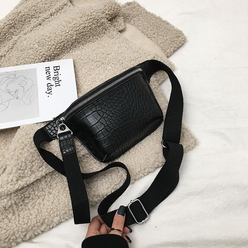 High quality crocodile leather waist bag crossbody bag