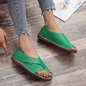2020 New Hot Soft Leather Women Sandals