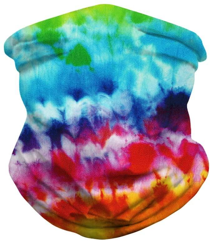Unisex Seamless Rave Bandana for Women Men Face Scarf-Printing