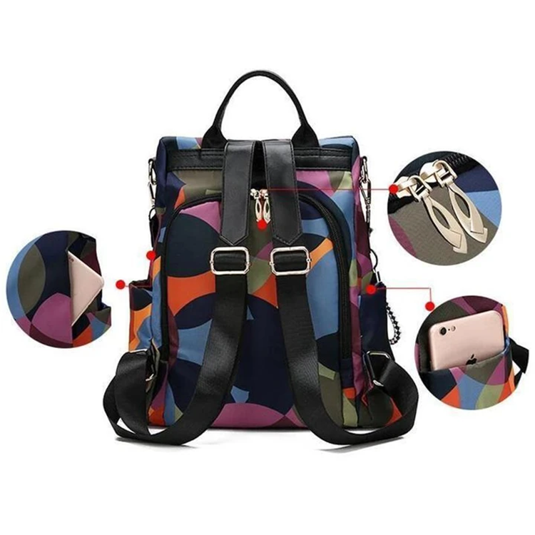 2020 new beautiful water resistant Anti-theft Backpack