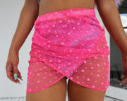 Pink Ruched Diva Skirt