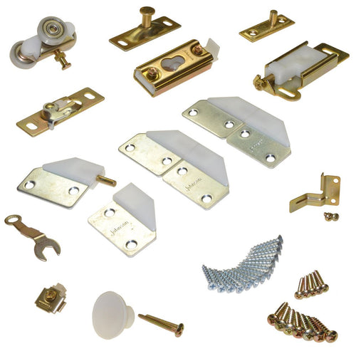 Johnson Hardware 100Fd 2-Panel Part Set Zinc/White