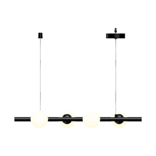 11.73'' Wide, Matte Black, 4-Lights, LED Linear Chandeliers,  40W, 3000K, Pendant Mounting, Dimmable
