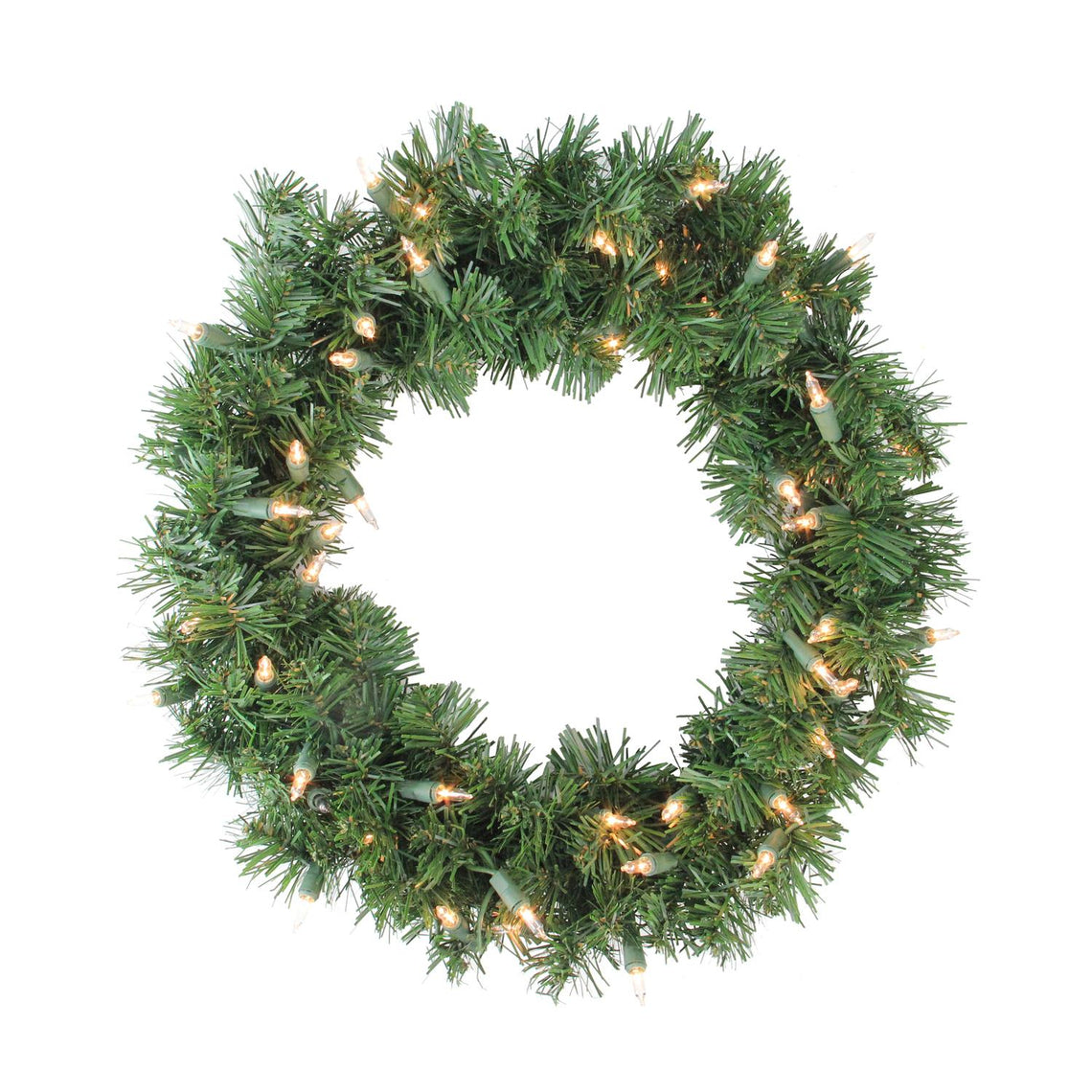 Deluxe Windsor Pine Artificial Christmas Wreath - 16-Inch  Clear Lights