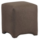 Load image into Gallery viewer, 17x19x17 Inch - Emma Cube Upholstered Nailhead Ottoman - Premier Dove