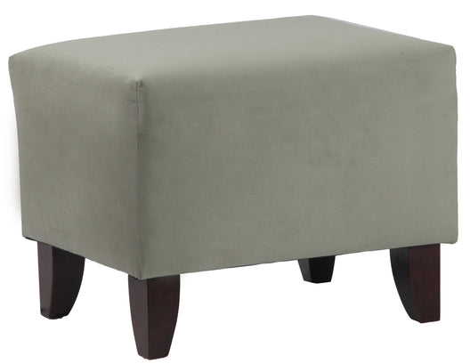 Zoe Upholstered Cube Ottoman In Portsmouth Loden - Seafoam Green