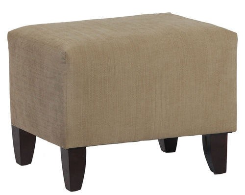 17x17x19 Inch - Zoe Upholstered Cube Ottoman In Brooke Pecan - Chestnut Brown Color