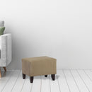Load image into Gallery viewer, 17x17x19 Inch - Zoe Upholstered Cube Ottoman In Brooke Pecan - Chestnut Brown Color