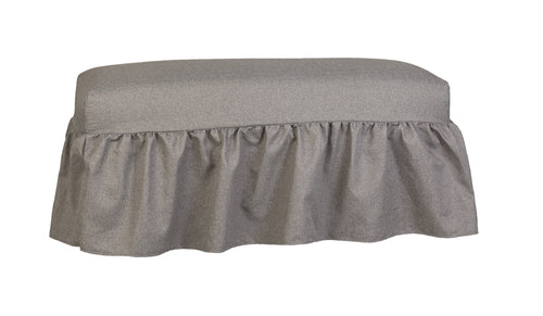 Classy Style Gathered Bench Slipcover - Bench Cushion Slipcover Sofa - Bench Cover