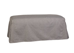 Modern Tailored Bench Slipcover In Bently Charcoal - Dining Room Bench Covers